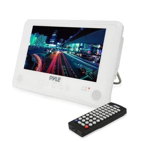 Water Resistant & Weather-Proof 7 Portable CD/DVD Player, Built-in Rechargeable Battery, USB/SD Readers
