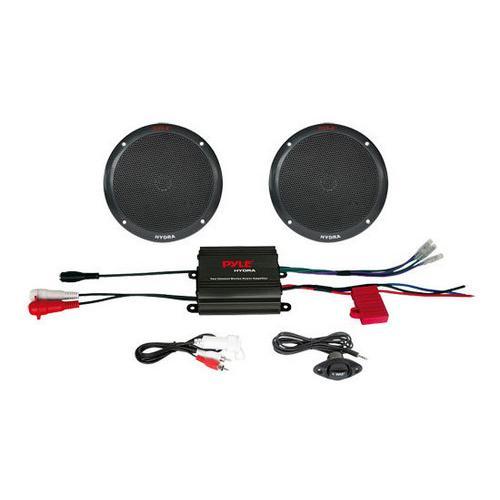 2 Channel 400 Watt Waterproof Micro Marine Amplifier & 6.5'' Speaker System