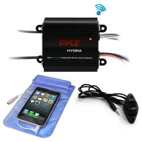 Bluetooth Marine Amplifier Kit, 2-Ch. Waterproof Audio Power Amp System