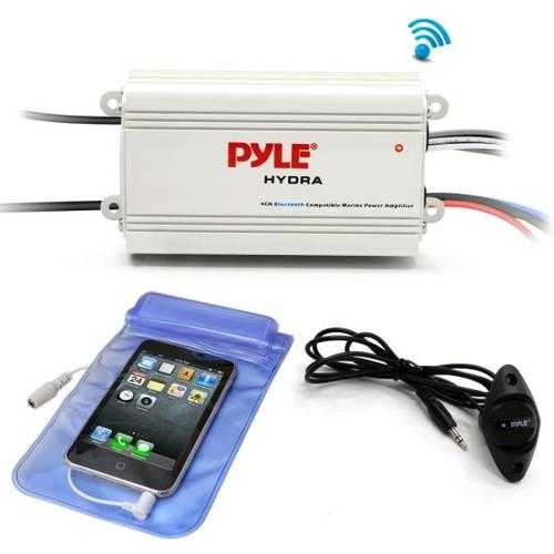 Bluetooth Marine Amplifier Kit, 4-Ch. Waterproof Audio Power Amp System