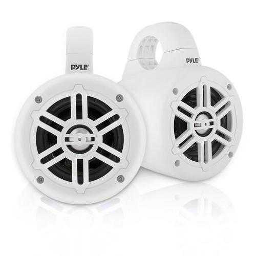Waterproof Rated Marine Tower Speakers - Compact Wakeboard Subwoofer Speaker System (4' -inch, 300 Watt)