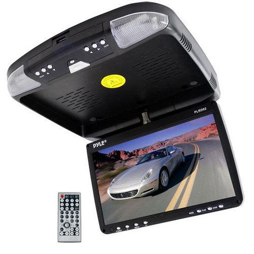 9'' Flip Down Roof Mount Monitor & DVD player with Wireless FM Modulator/ IR Transmitter