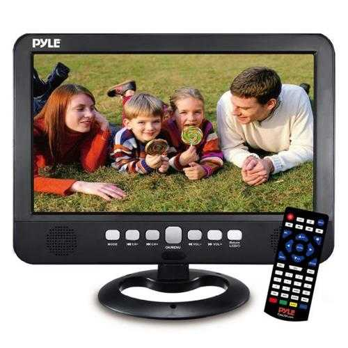 10 Portable TV Tuner Monitor Display Screen with Built-in Rechargeable Battery, USB/Micro SD Readers (Analog ATSC/DTV Support)