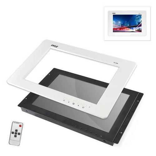 9'' Video Monitor Panel Display Screen, Full HD 1080p Support, HDMI/RCA/VGA Connectors (Universal Mount: In-Wall / In-Vehicle Custom Installation)