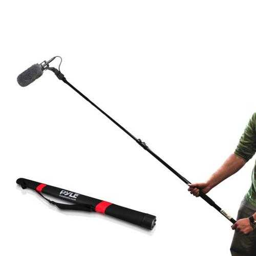 Microphone Shotgun Fishing Boom Pole, Extending Length Adjustable Telescoping Mic Arm
