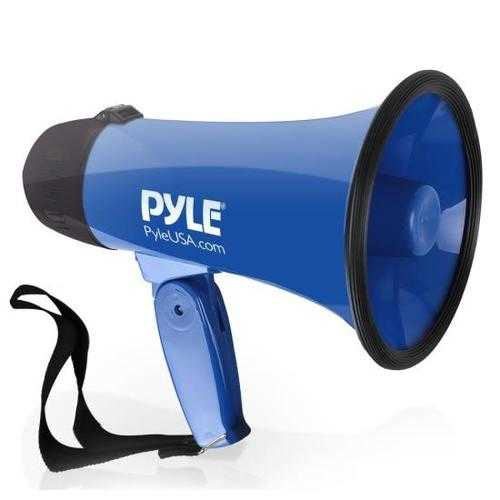 Compact & Portable Megaphone Speaker with Siren Alarm Mode, Battery Operated