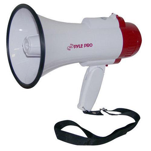 Megaphone PA Bullhorn with Built-in Siren, Adjustable Volume Control and 800 Yard Range