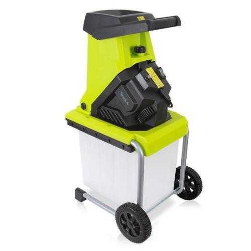 Electric Garden Shredder - Home Garden Leaf Shredder / Chipper / Mulcher with 50-Liter Collection Bin
