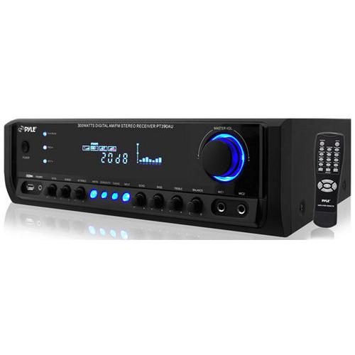 300 Watt Digital Home Stereo Receiver System with USB/SD Memory Readers