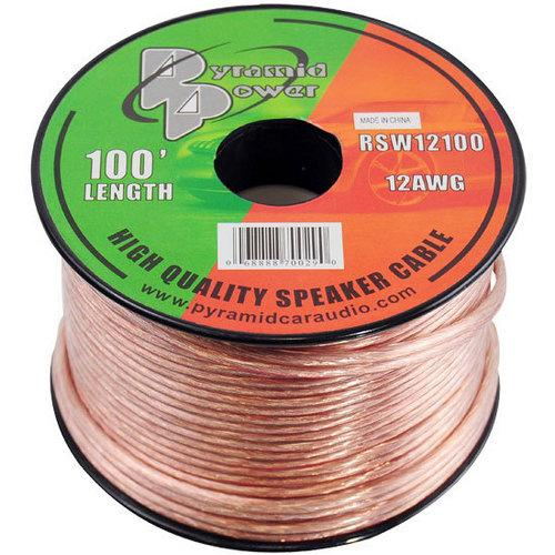 12 Gauge 100 ft. Spool of High Quality Speaker Zip Wire