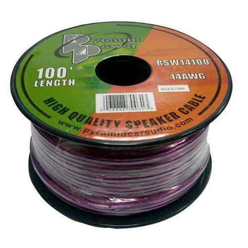 14 Gauge 100 ft. Spool of High Quality Speaker Zip Wire(Colors may vary)