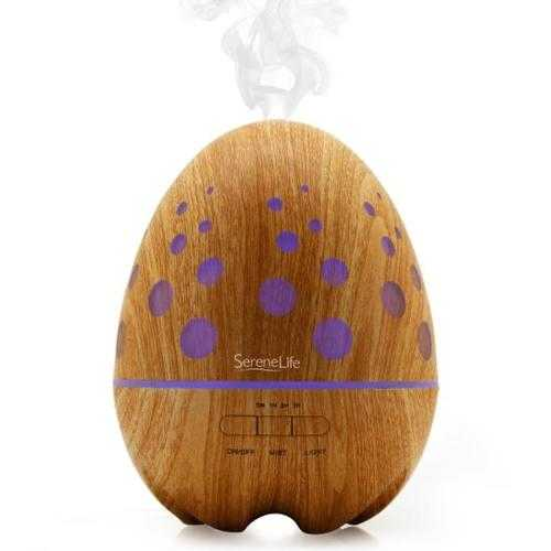 2-in-1 Aroma Diffuser & Humidifier with Warm Glowing LED Lights