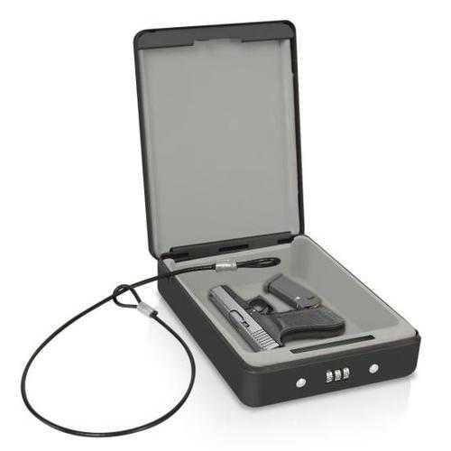 Compact Pistol / Handgun Safe Box - Personal Firearm Combination Lock Steel Vault
