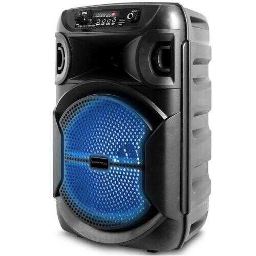8 Inch Portable 1000 watts Bluetooth Speaker with Woofer & Tweeter, Festival PA LED Speaker with Bluetooth/USB Card Inputs, True Wireless Stereo, 30 Feet Bluetooth Range