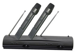 Dual Channel VHF Wireless Microphone System with (2) Handheld Mics