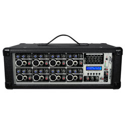 Category: Dropship Musical Instruments, SKU #PMX802M, Title: 8-Channel 800 Watt Powered Mixer, AUX (3.5mm) Input, SD Memory Card & USB Flash Drive Readers, LCD Display, Headphone Jack