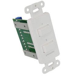 In-Wall Speaker Selector Switch, Wall Plate Speaker Control