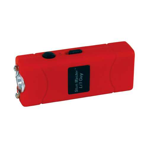Stun Master Lil Guy 60,000,000 volts Stun Gun W/flashlight and Nylon Holster Red