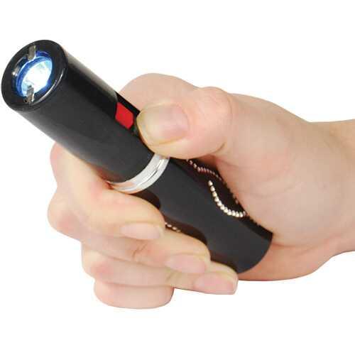 Stun Master 3,000,000 Volt Rechargeable Lipstick Stun Gun with Flashlight, black