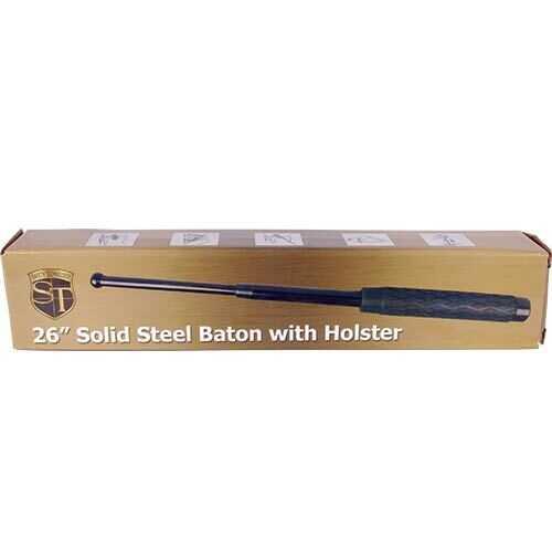 26 inch Rubber Handle Steel Baton