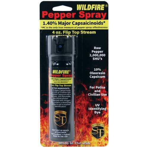 Wildfire 1.4% MC 4 oz pepper spray flip top