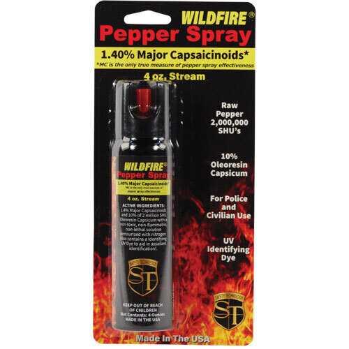 WildFire 1.4% MC 4oz pepper spray stream