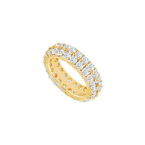Diamond Eternity Band : 18K Yellow Gold – 4.00 CT Diamonds