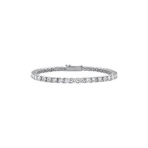 Cubic Zirconia Tennis Bracelet : .925 Sterling Silver - 3.00 CT TGW