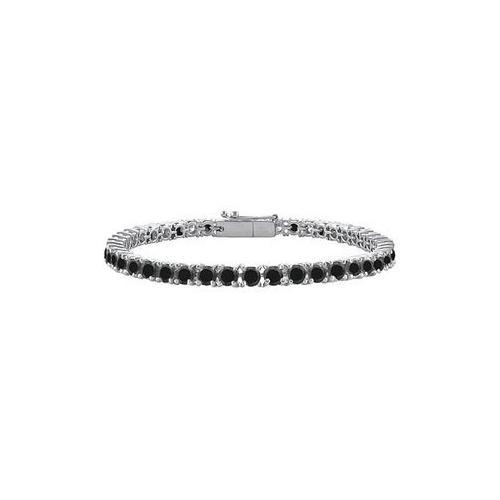 Black Diamond Prong-Set Tennis Bracelet : 14K White Gold – 2.00 CT Diamonds