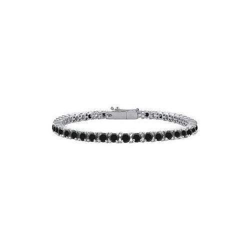 Black Diamond Prong-Set Tennis Bracelet : 14K White Gold – 4.00 CT Diamonds