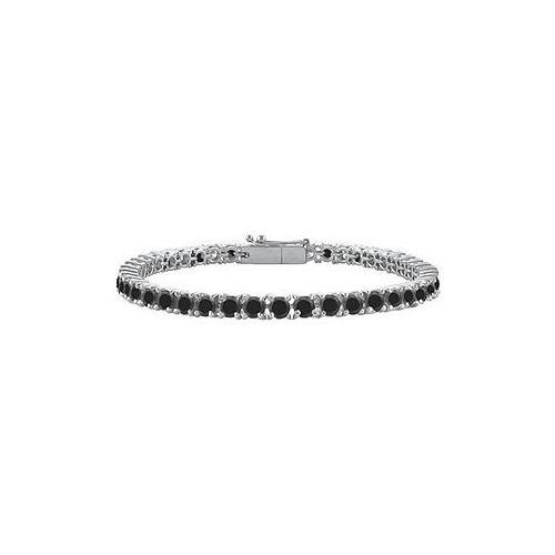 Black Diamond Prong-Set Tennis Bracelet : 14K White Gold – 5.00 CT Diamonds