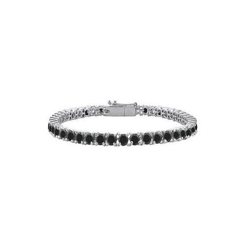 Black Diamond Prong-Set Tennis Bracelet : 14K White Gold – 7.00 CT Diamonds