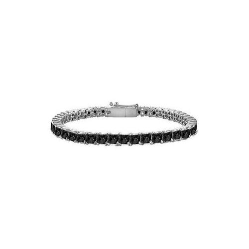 Black Diamond Princess-Cut Tennis Bracelet : 14K White Gold – 4.00 CT Diamonds