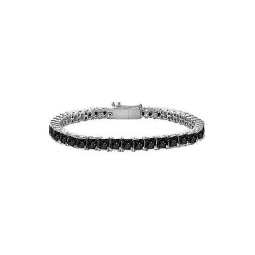 Black Diamond Princess-Cut Tennis Bracelet : 14K White Gold – 5.00 CT Diamonds