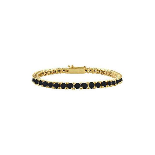 Black Diamond Prong-Set Tennis Bracelet : 14K Yellow Gold – 3.00 CT Diamonds