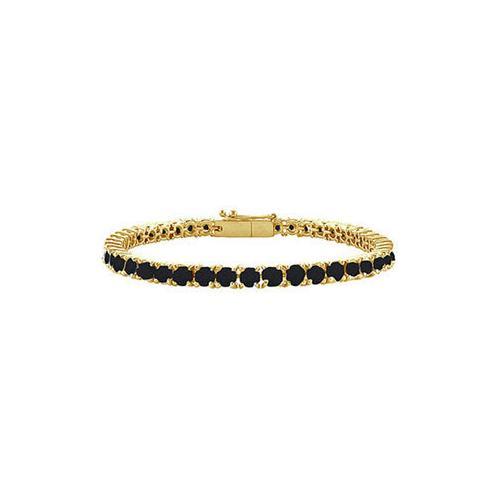 Black Diamond Prong-Set Tennis Bracelet : 14K Yellow Gold – 4.00 CT Diamonds