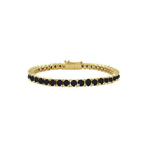 Black Diamond Prong-Set Tennis Bracelet : 14K Yellow Gold – 7.00 CT Diamonds