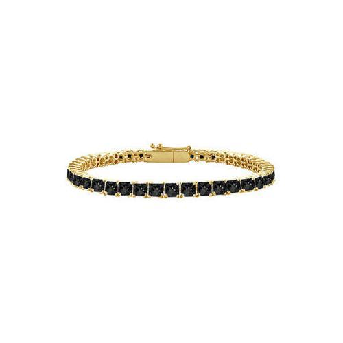 Black Diamond Princess-Cut Tennis Bracelet : 14K Yellow Gold – 2.00 CT Diamonds