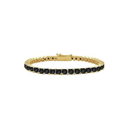 Black Diamond Princess-Cut Tennis Bracelet : 14K Yellow Gold – 4.00 CT Diamonds