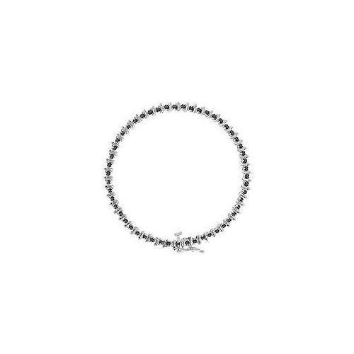 Black Diamond Bracelet : 14K White Gold - 1.00 CT Diamonds