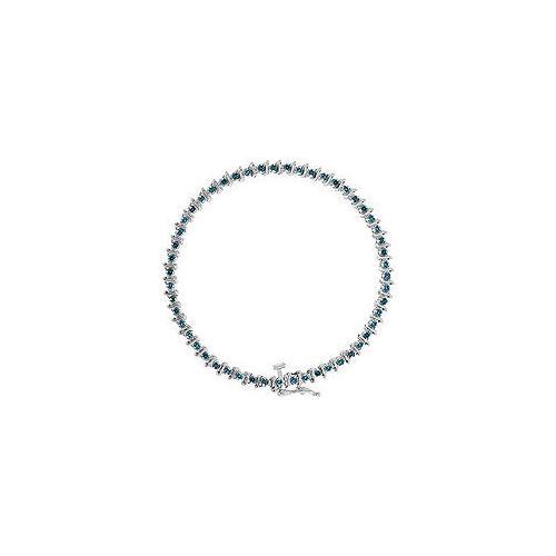 Blue Diamond Bracelet : 14K White Gold - 1.00 CT Diamonds