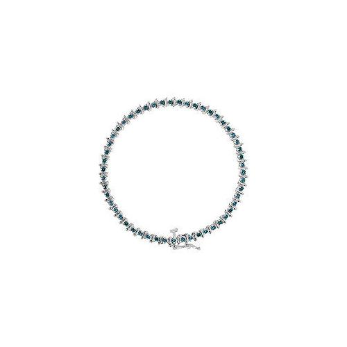 Blue Diamond Bracelet : 14K White Gold - 2.00 CT Diamonds