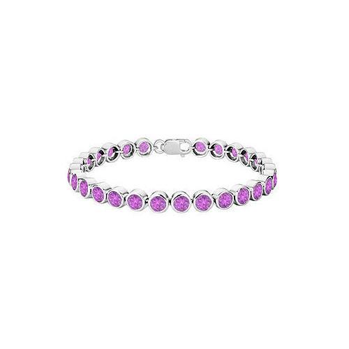 Amethyst Bezel-Set Tennis Bracelet : .925 Sterling Silver – 25.00 CT TGW