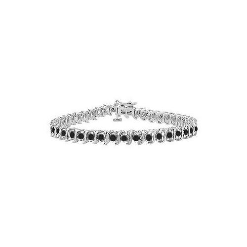 Black Diamond S Tennis Bracelet : 925 Sterling Silver - 1.00 CT Diamonds