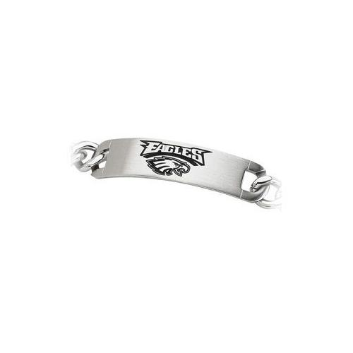 Stainless Steel Philadelphia Eagles Team Name and Logo ID Bracelet - 8 Inch