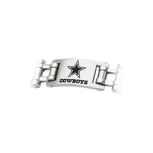 Stainless Steel Dallas Cowboys Team Logo Bracelet - 8 Inch
