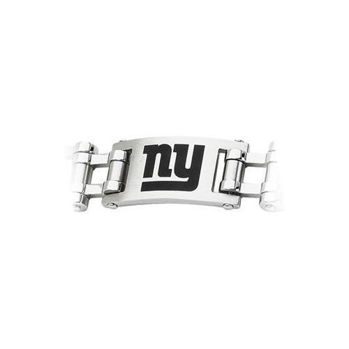 Stainless Steel New York Giants Team Logo Bracelet - 8 Inch