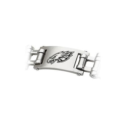 Stainless Steel Philadelphia Eagles Team Logo Bracelet - 8 Inch