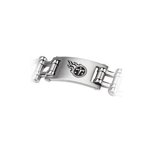 Stainless Steel Tennessee Titans Team Logo Bracelet - 8 Inch