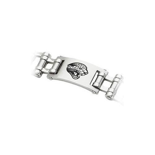 Stainless Steel Jacksonville Jaguars Team Logo Bracelet - 8 Inch